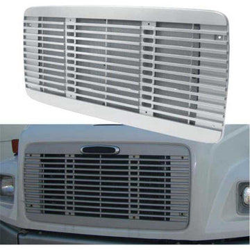 Silver Freightliner FL 60/70/80/106/112 Grill with Bug Screen