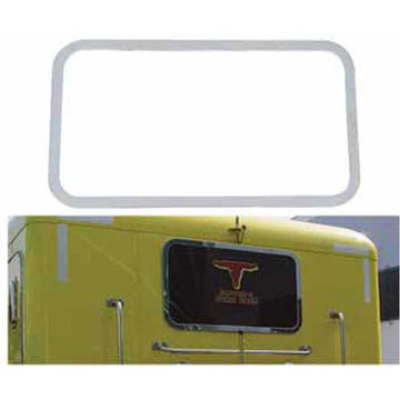 Peterbilt Stainless Rear Sleeper Window Trim