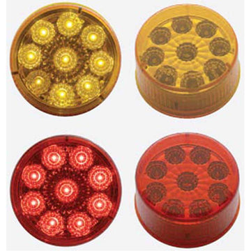 9 LED 2 Inch Reflector Clearance/Marker Light