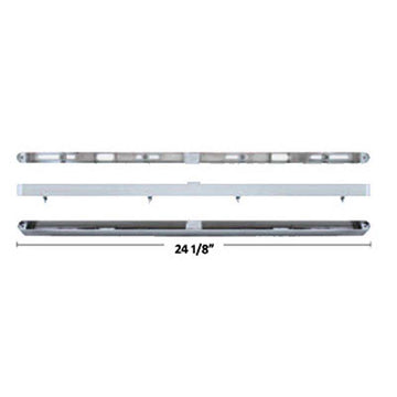 Chrome 24 Inch LED Light Bar Housing