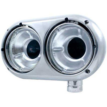 Peterbilt 359 Style Dual Headlight Housing-Stainless or Aluminum