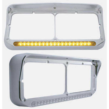 19 LED Light Bar Rectangular Dual Headlight Bezel 4 Options