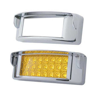Chrome Rectangular Light Bezel with Visor
