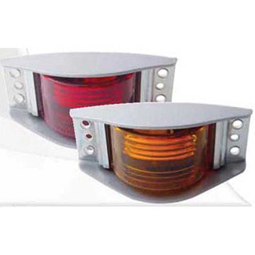 Narrow Rail Clearance/Marker Light with Housing & 6 Hole Mount