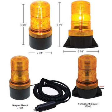 3 Amber High Power LED Micro Beacon Light