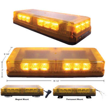 18 High Power LED Mini Strobe Warning Bar n Two Mounting Options