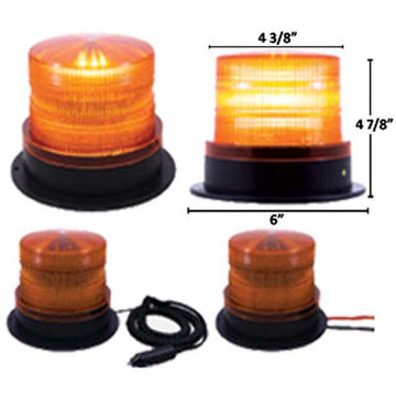 6 High Power LED 5 Inch Beacon in 2 Mounting Styles