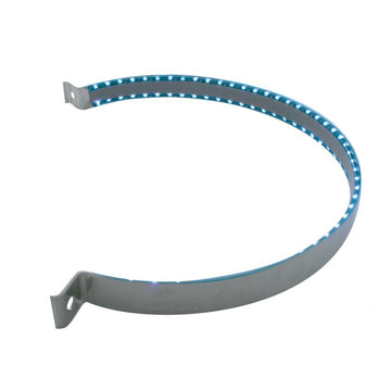 90 LED Stainless Peterbilt Air Cleaner Strap (UP37527) Blue