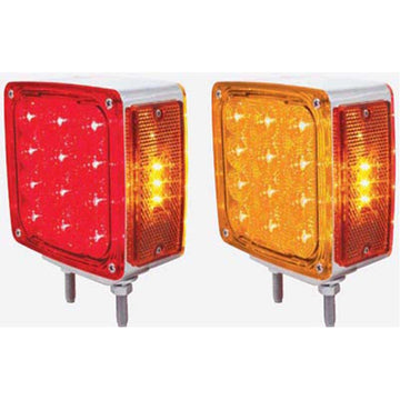 LED Square Double Face Turn Signal Light Double Stud