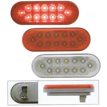 12 LED Oval S/T/T Light with Reflector