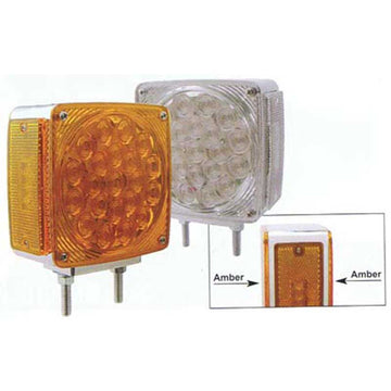 45 LED Double Face Turn Signal with Amber LEDs (Double Mount)