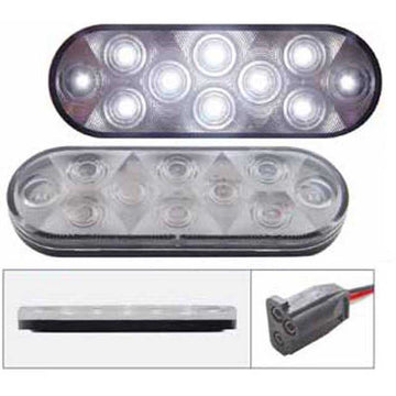 10 LED Oval Auxiliary/Utility Light