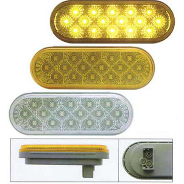 16 LED Reflector Oval Turn Signal