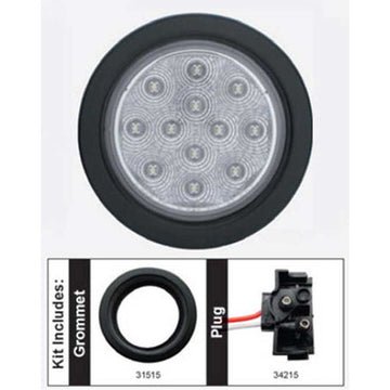 12 LED 4 Inch Reflector Auxiliary/Utility Light Kit
