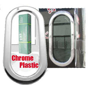 Chrome Plastic Peterbilt Exterior Oval Window Cover