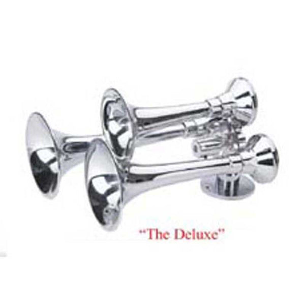 "3 Trumpet ""DELUXE"" Chrome Train Horn"