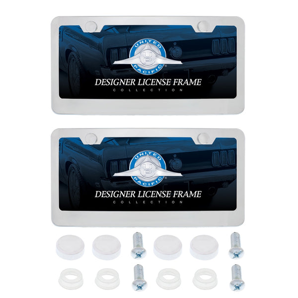 2-Pack Chrome Metal License Frame Kit
