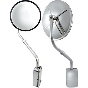 Stainless Steel Hood Mount Mirror