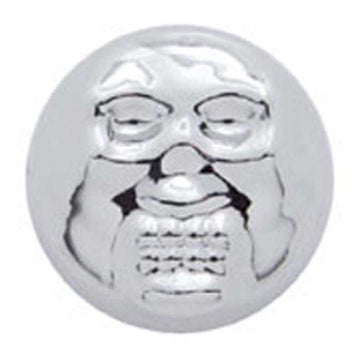 Chrome Plastic Skull Snap-On Screw Covers