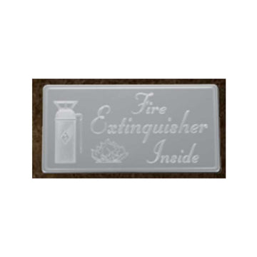 SS Fire Extinguisher Inside Horizontal Statement Plate