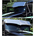 Kenworth 13 Inch Drop 2 Piece Visor with Stainless or Paintable