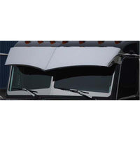 "Peterbilt 14"" Drop Visor Flat Top / Standard Cab Mounted Mirrors"