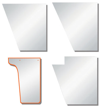 "Peterbilt 379 Factory Replacement Hood Extension Panels 4"" Wide"