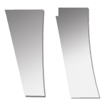 "Peterbilt 389 Stainless Hood Extension Panels w/ Urea 4"" Wide"