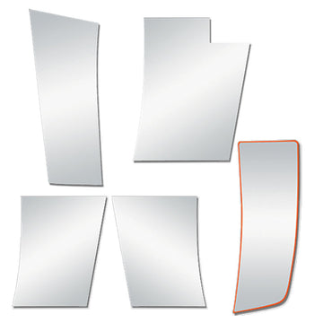 "Peterbilt 389 Stainless 6"" Wide Hood Extension Panels"