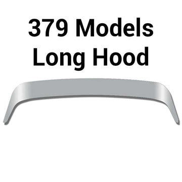 Stainless Peterbilt 379 Long Hood Bug Shield