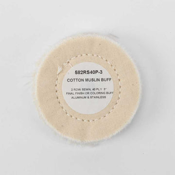 40 Ply Row Sewn Cotton Muslin 3 Inch Buffing Wheel