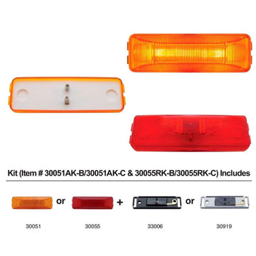 Rectangular Clearance And Marker Lights