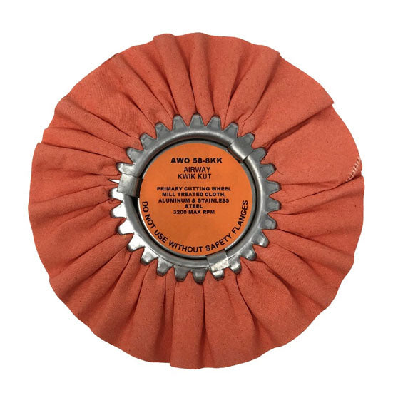 Orange Kwik Kut Polishing Wheels