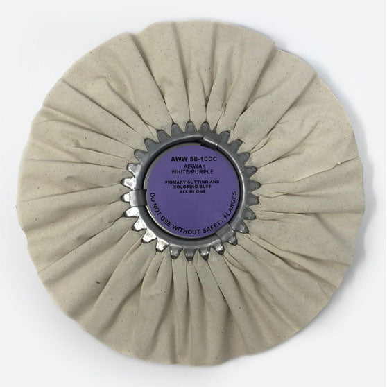 White And Purple Airway Buffing Wheel