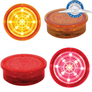 9 LED Dual Function Mini Bullet Light Insert in Amber or Red