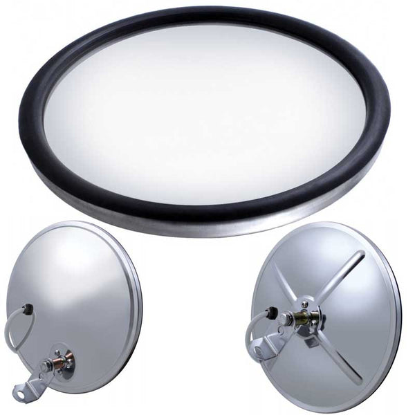 "Stainless 8 1/2"" Convex Mirror 320R"