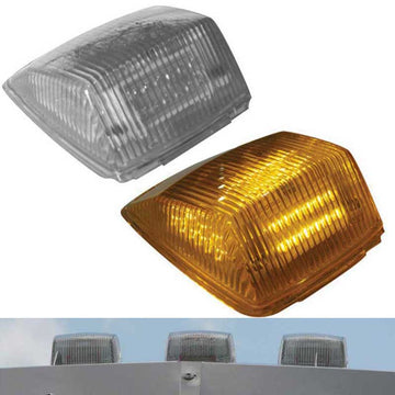Square Amber LED Cab Lights