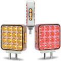 Double Faced Square Fender LED Light With Chrome Reflector