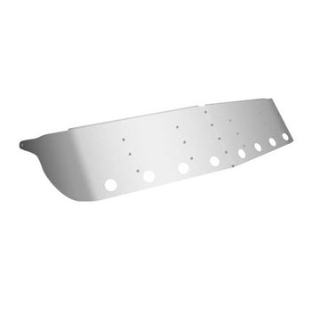 14 Inch Kenworth Curved Glass Sunvisor With Eight Light Holes
