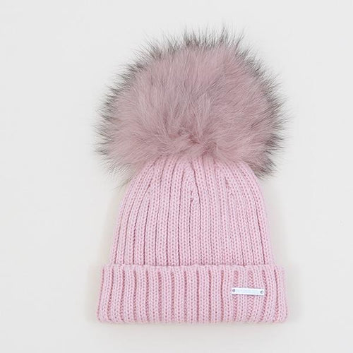 Pangasa Ribbed Hat REAL FUR (11 colours)