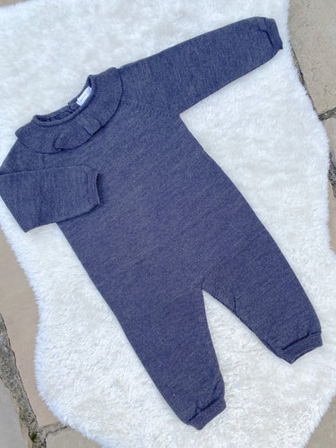 Wedoble Charcoal Frill Onesie