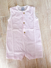 Load image into Gallery viewer, Babidu SS21 Pink Gingham Sleeveless Romper