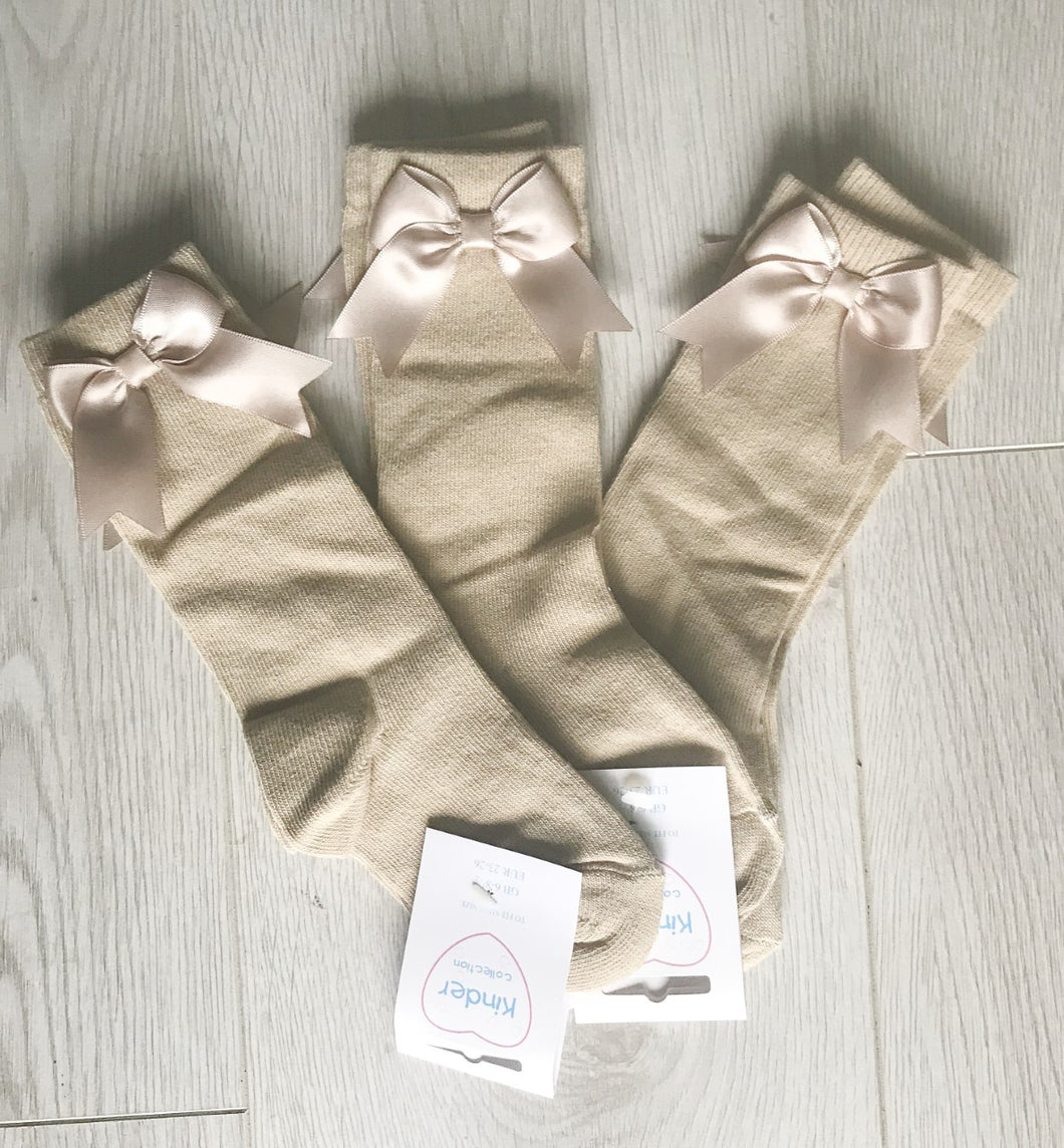Kinder Camel Bow Socks