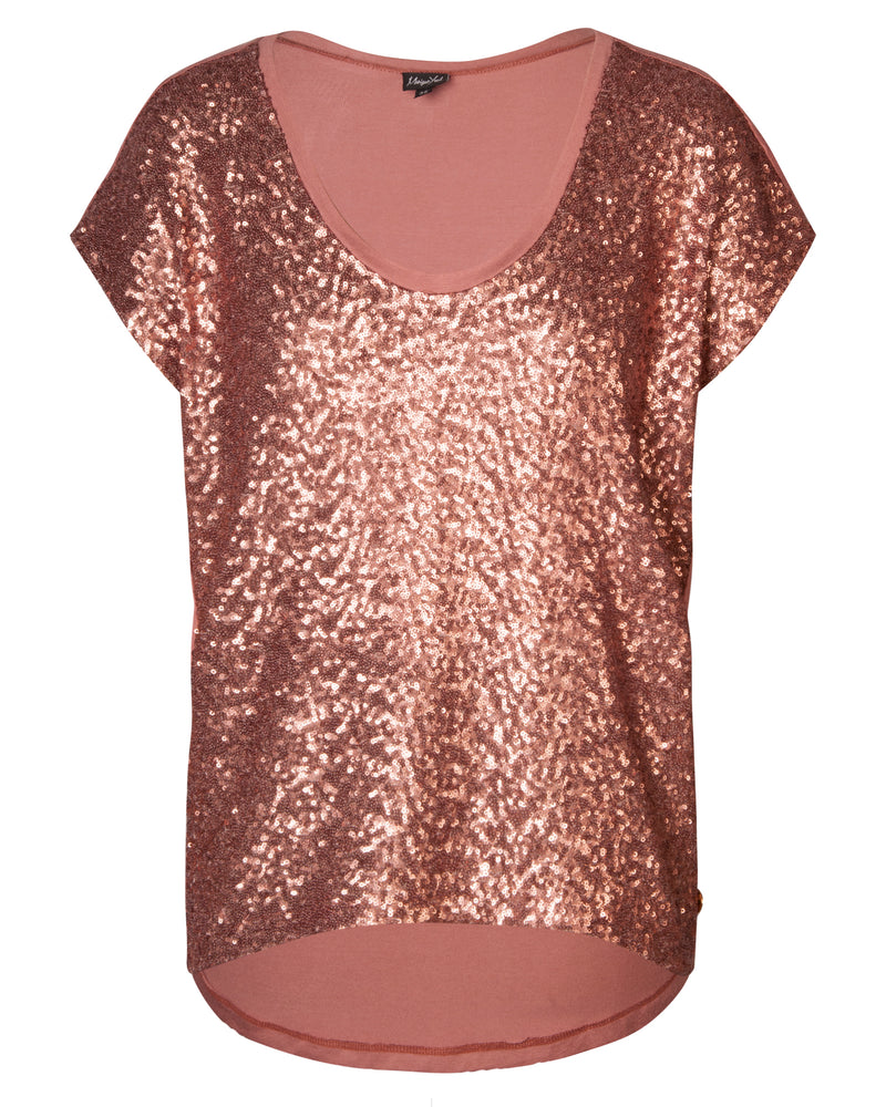 Combo Boxy Top - Rose Sequin