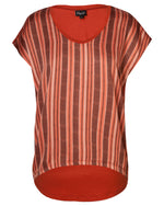 Combo Boxy Top - Rust Chevron