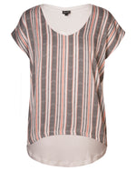 Combo Boxy Top - Milk Chevron