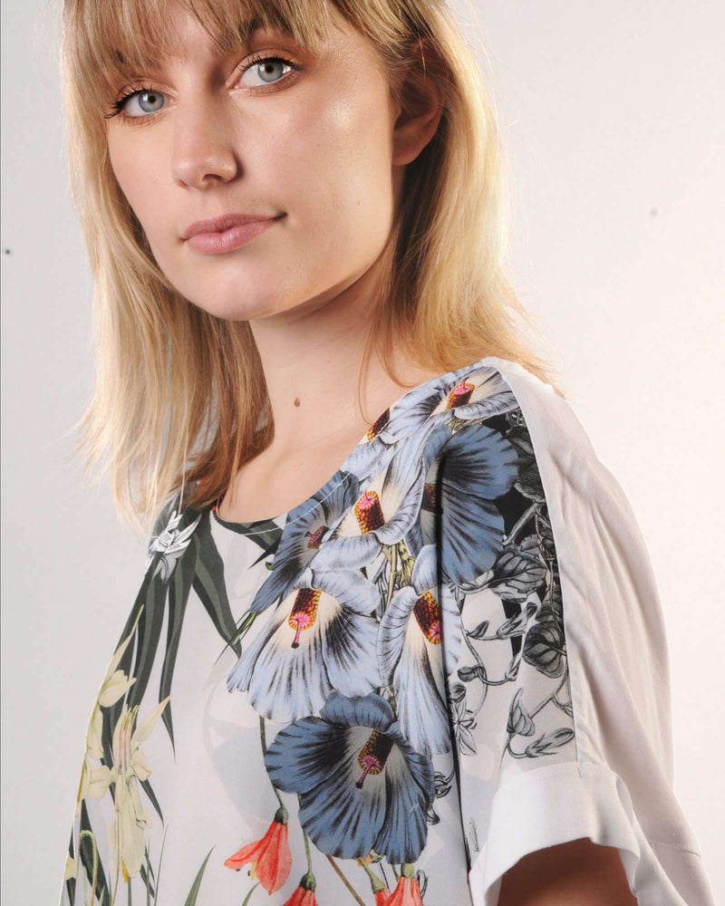 Drop Shoulder Boxy Top - Woven Viscose