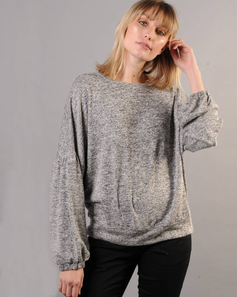 Bishop Sleeve Sweatshirt - Whisper Grey