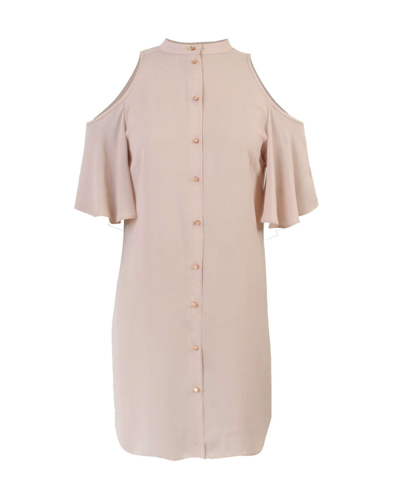 Open Shoulder LL Shirt - Blush