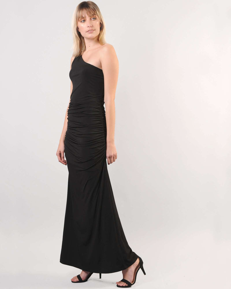 One Shoulder G-Maxi - Black